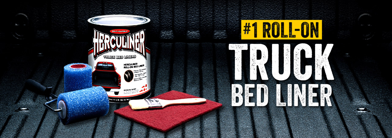 White Roll On Truck Bed Liner