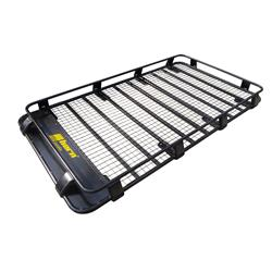 Roof Rack Aluminium 220x125x16cm black Ground Rack
