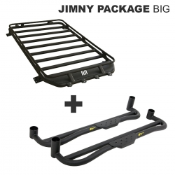 Suzuki Jimny Roof Rack BIG & Alu Side Step Package