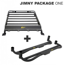Suzuki Jimny Roof Rack One & steel Side Step Package