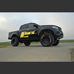 Mercedes X Body Lift Kit 100mm TÜV DOKA ab 2017  Höherlegung Bodylift horntools Delta
