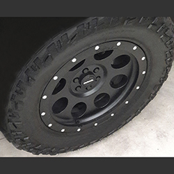 Mercedes X Class wheel Classic_B 18x8,5 6/114,3 ET42,5 ML66,1 black mate with Yokohama Tyre