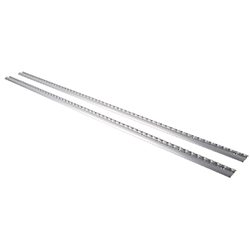 Airline Track Alu round 2 pieces 1,5m 11x50x1500mm silver