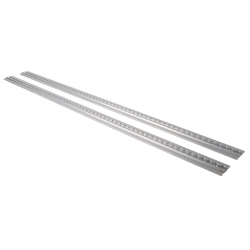 Airline Track Alu square 2 pieces 1,5m retractable 1500mm silver