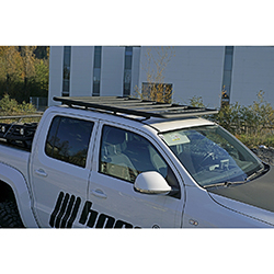 Isuzu DMAX Roof Rack NAVIS FLAT for Roof Tent mounting optional with Rail Aluminium black