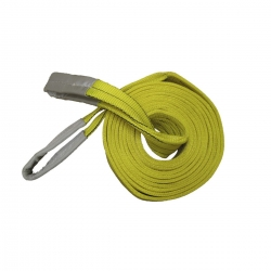 flat webbing sling yellow, 6 m 3000 kg double ply TUV/GS