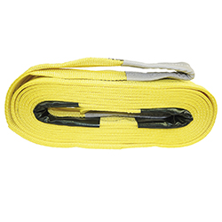 flat webbing sling yellow, 10 m 3000 kg double ply TUV/GS