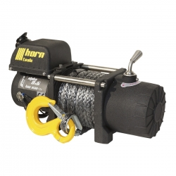 Alpha 9.5 winch 4.3 t 24 V short with 15m black dyneema rope